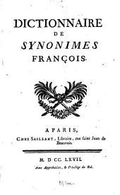 Dictionnaire de synonimes françois