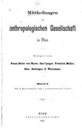 Mitteilungen: Bände 1-2