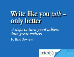 Write Like You Talk Only Better Book PDF