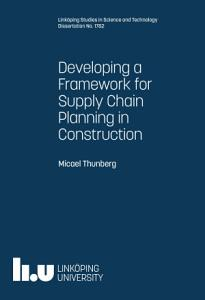 Developing a Framework for Supply Chain Planning in Construction PDF