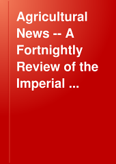 Agricultural News -- A Fortnightly Review of the Imperial Department of Agriculture for the West Indies -- Volume 1.