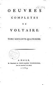 Oeuvres complètes de Voltaire: Volume66