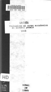 Prolusione al corso accademico di diritto penale dell'anno 1883-84