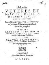 Adversus veteres et novos errores de anima conclusionum centuria