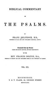 Biblical Commentary on the Psalms: Volume 3