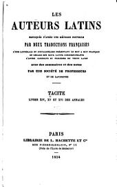 Livres XIV, XV et XVI des annales: Volume4