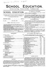 School Education: Volume 11