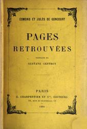 Pages retrouvées
