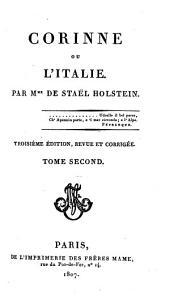Corinne, ou, L'Italie: Volume2