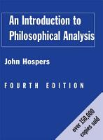 An Introduction to Philosophical Analysis PDF