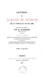 Lettres de Madame de Sévigné: de sa famille et de ses amis, Volume5