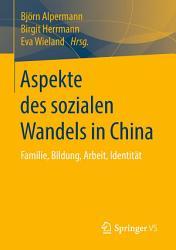 Aspekte des sozialen Wandels in China PDF