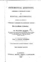 Arithmetical Questions PDF