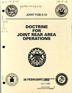 Doctrine for Joint Rear Area Operations PDF