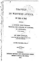 Travels in Western Africa, in 1845 & 1846
