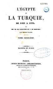 L'Égypte et la Turquie de 1829 à 1836