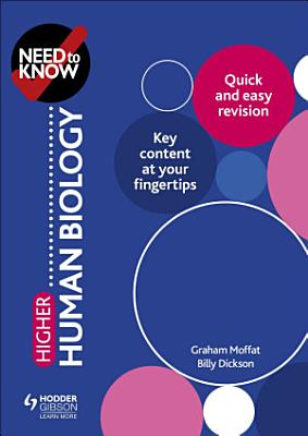 Need to Know  Higher Human Biology PDF