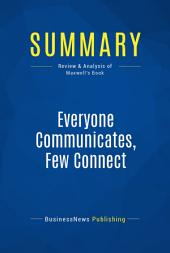 Summary: Everyone Communicates, Few Connect: Review and Analysis of Maxwell's Book