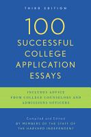 100 Successful College Application Essays PDF