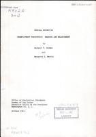Special Report on Unemployment Statistics PDF