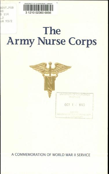 Download The Army Nurse Corps Book