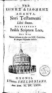 Novi testamenti graeci libri omnes