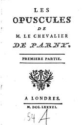 Les Opuscules: Volume1