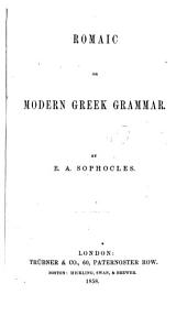 Romaic Or Modern Greek Grammar
