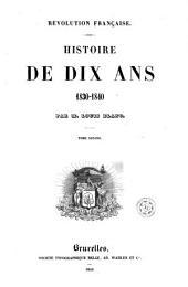 Histoire de dix ans, 2: 1830-1840, Volume13