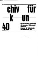 Archiv f  r V  lkerkunde PDF