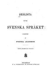 Ordlista öfver svenska språket