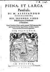 Copiosissima parafrase ... nel primo libro della retorica d'Aristotele: come nei sequenti Tomi nel 2 et 3 libro della ret, Volume2