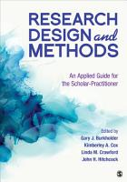 Research Design and Methods PDF
