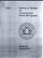 Rates & Terms on Conventional Home Mortgages