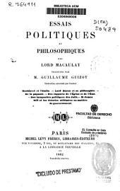 Essais politiques et philosophiques