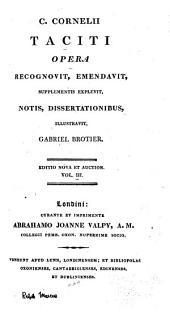C. Corn: Taciti Opera, Volume 3