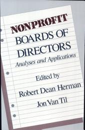 Nonprofit Boards of Directors: Analyses and Applications