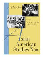 Asian American Studies Now PDF