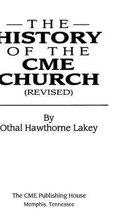 The History of the CME Church PDF