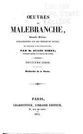 Oeuvres de Malebranche: Volume2