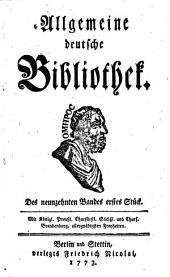 Allgemeine deutsche Bibliothek: Band 19