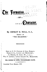 The Formation of Character