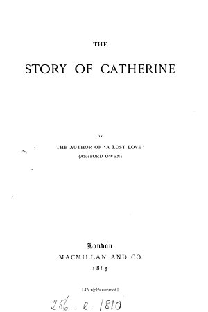 The story of Catherine  by Ashford Owen