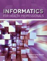 Informatics for Health Professionals PDF
