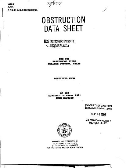 Easterwood Field  College Station  Texas PDF
