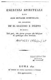 Esercizi spirituali dati alle monache dominicane