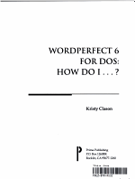 WordPerfect 6 for DOS