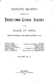Legislative Documents: Volume 5