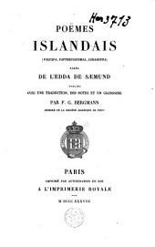 Poëmes islandais: (Voluspa, Vafthrudnismal, Lokasenna) tirés de l'Edda de Sæmund