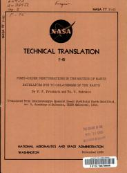 First order Perturbations in the Motion of Earth Satellites Due to Oblateness of the Earth PDF